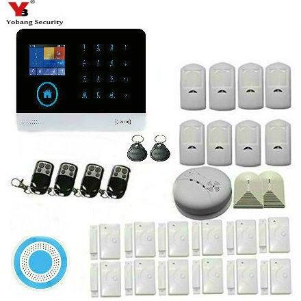 YoBang sécurité sans fil RFID système d'alarme de Surveillance de sécurité à domicile alarme de détection de fumée + verre cassé alarme sécurité à domicile.