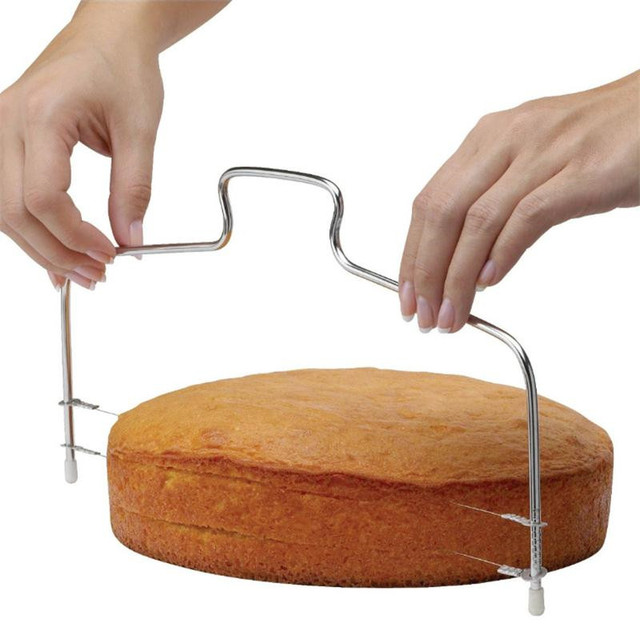 Haute Qualité Couche Gâteau Trancheuse Réglable Gâteau Fil Slicer Leveler Acier Inoxydable Tranches Ustensiles de Cuisson Cuisine Accessoires De Cuisine