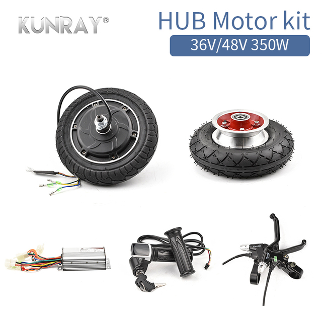 48V 350W E-Scooter Wheel Brushless Toothless Hub Motor Electric Scooter Conversion Kit 8inch Electric Bike Engine DIY Motor Set