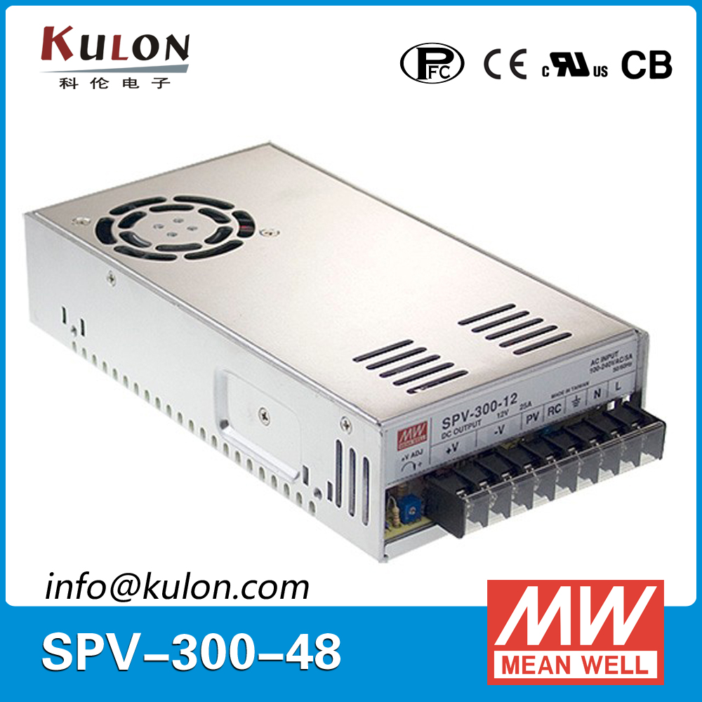 Meanwell SPV-300-48 300W 48V 6.25A Power Supply with PFC function output voltage programmable цена