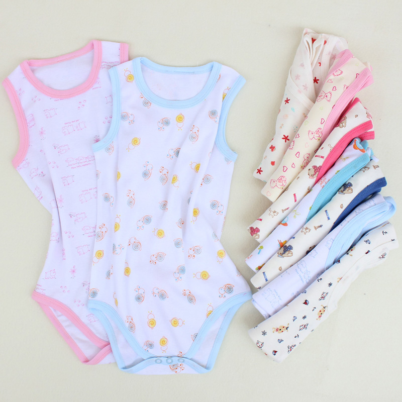 Baby clothes 100% cotton newborn baby body suits baby sleeveless baby clothes romper summer children clothing 2016 baby girls summer clothing sets baby girl romper suits romper tutu skirt headband infant newborn baby clothes baby romper
