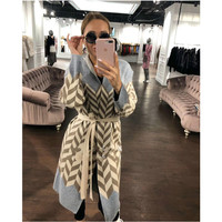 Poncho Bamboo Fiber Jumper Sweater Women Cardigan Feminino 2018 Winter New Velvet Wool Knit Water Ripple Long Sleeve Clothes