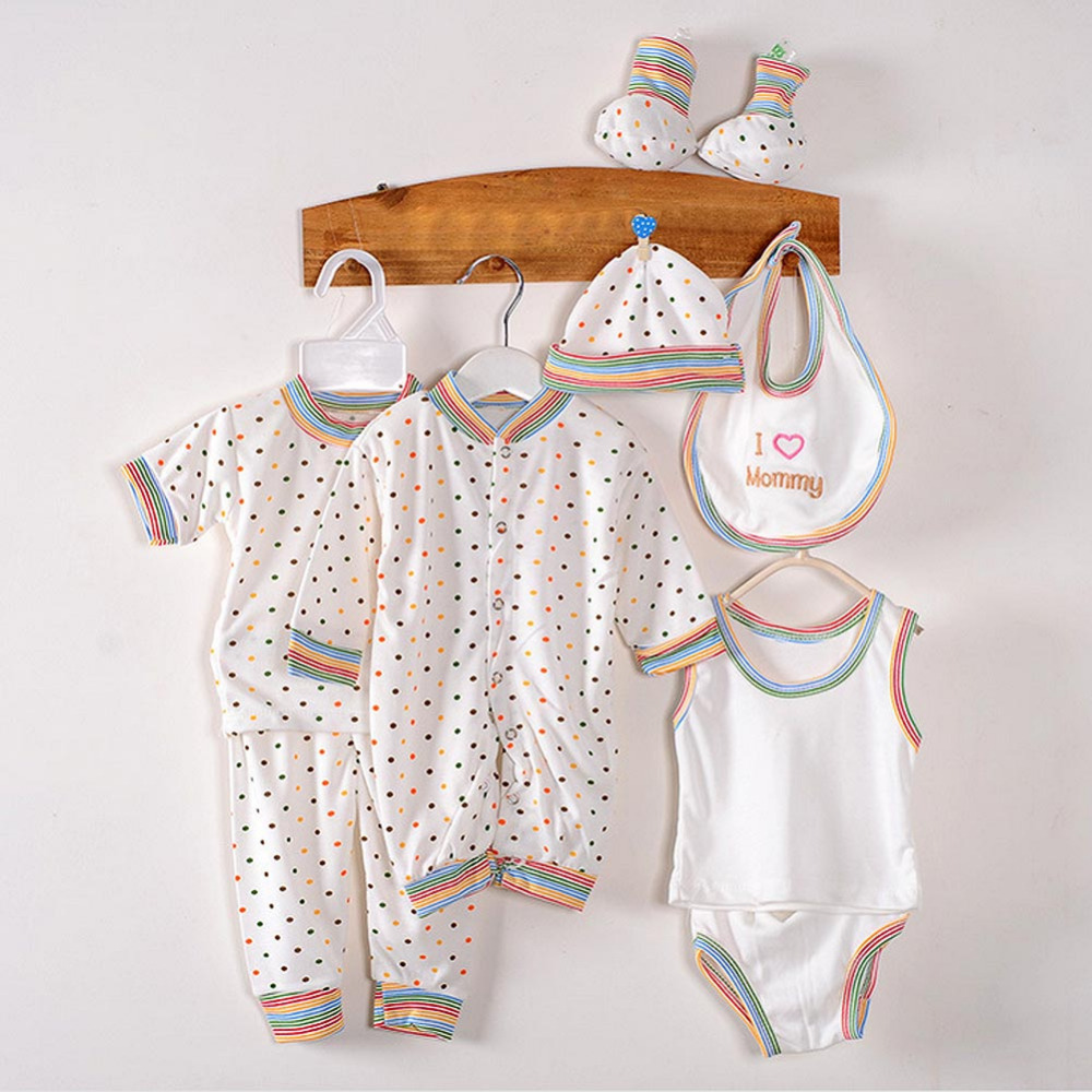 8Pcs/lot 100% Cotton Sets Baby Spring Summer Newborn Infant Clothing Set Baby Boys Girls Clothes Tracksuits 0-3 Months F1 2pcs set newborn floral baby girl clothes 2017 summer sleeveless cotton ruffles romper baby bodysuit headband outfits sunsuit