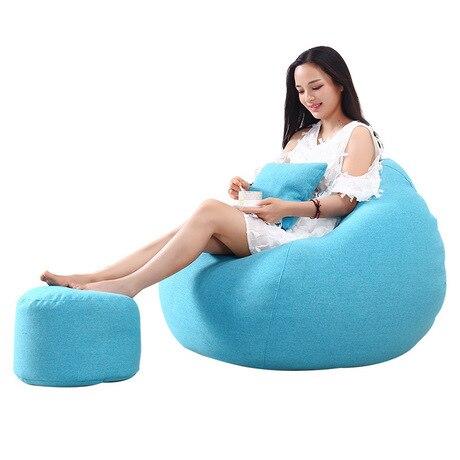 Sala de estar Sofás beanbag Móveis Para Casa sofá preguiçoso sofá sofá do saco de feijão cadeira banquinho dobrável portátil cadeira sopro Tatami