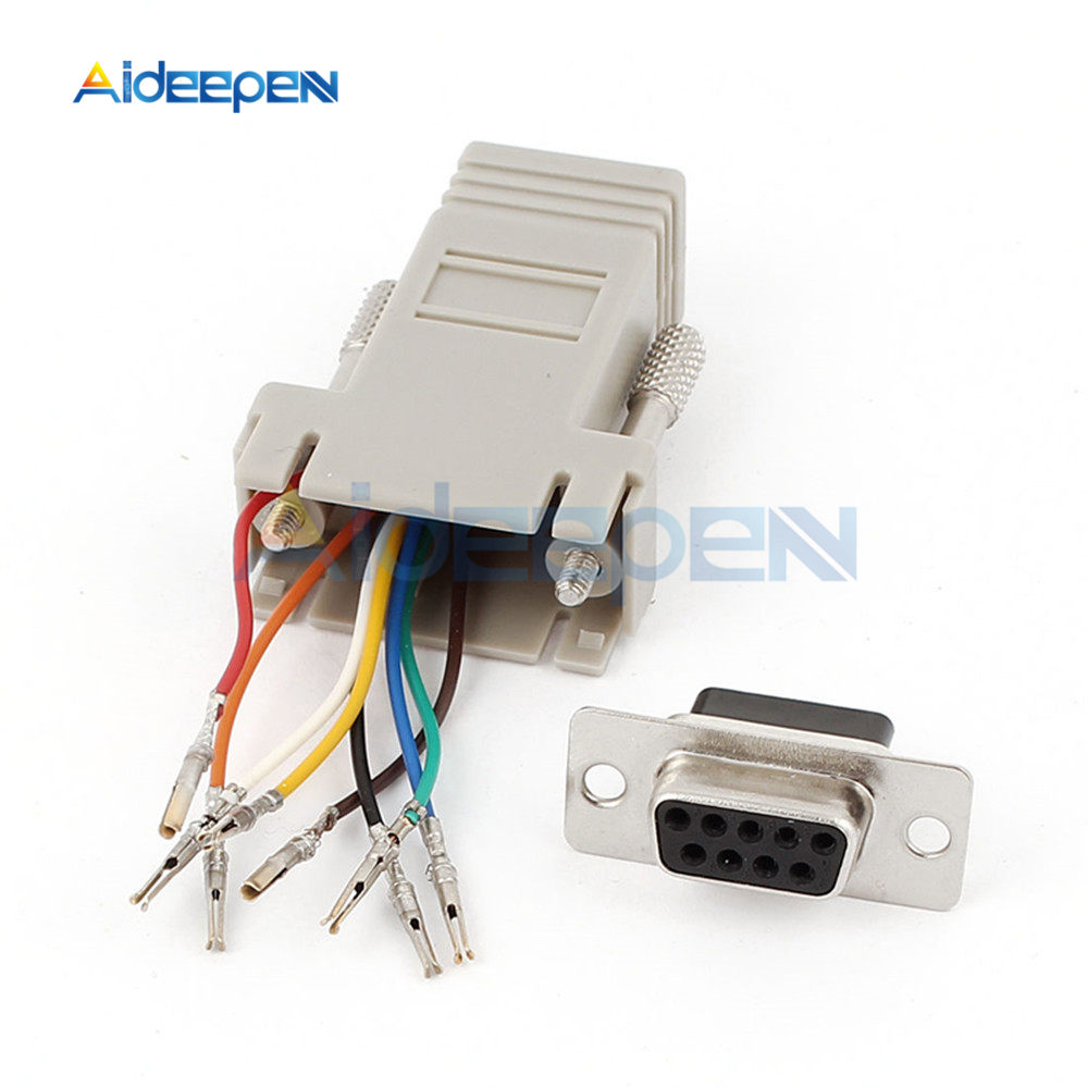 Extender F//F female DB9 female to RJ45 RS232 Female Adapters Connector Converter