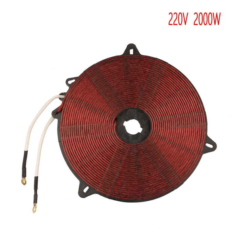 2000W 195mm Heat Coil Enamelled Aluminium Wire Induction Heating Panel Induction Cooker Accessory цена