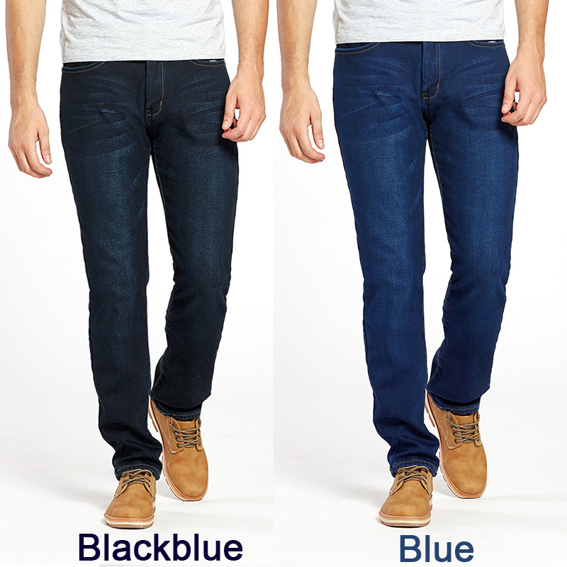 af1bf825c7fd Drizzte Winter Thermal Warm Flannel Lined Stretch Jeans Mens Comfortable  Fleece Pants Trousers-in Jeans from Men's Clothing on Aliexpress.com |  Alibaba ...