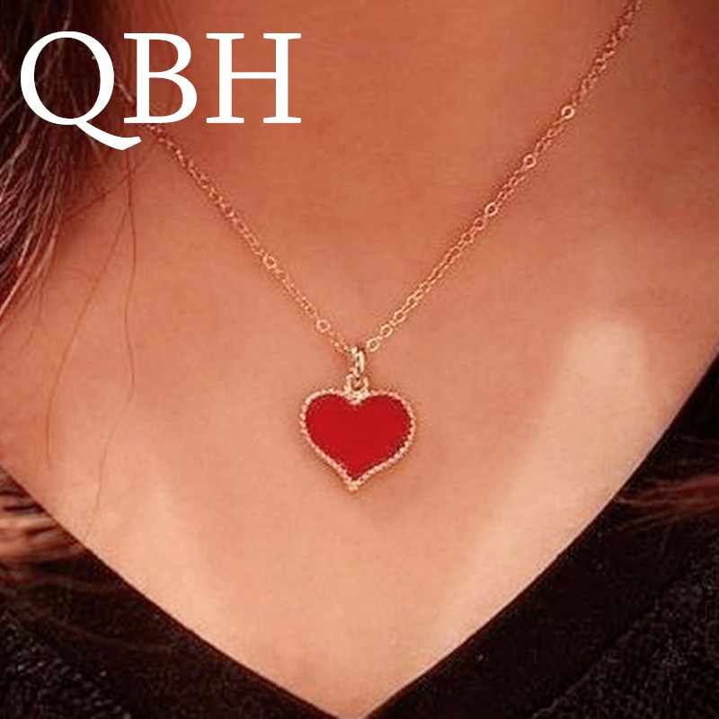 NK147 Fashion Vintage Minimalist Heart Pendant Necklace For Women Jewelry Wholesale HOT Best Selling Chain Clavicle Neckalce