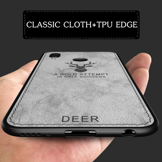 online retailer bfc38 c67cd US $2.99 40% OFF|Huawei Honor Play case cover silicone edge deer pattern  fabric shockproof back cover case for Huawei Honor Play COR AL00 coque-in  ...