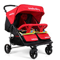 2016Twins baby carriage stroller sitting lying folding stroller carts double seat baby cart suspension baby infant stroller