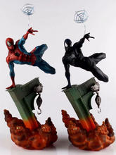 28cm The Amazing Spider-Man Venom symbiont Action Figure Statue Model Toys Spider man PVC Anime Figure toy for Children Gifts цена