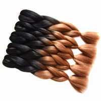 Sallyhair 10packs Ombre Braiding Bulk Hair Extension Synthetic Jumbo Crochet Braids 50 Colors Black Brown Pink