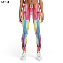 KYKU Brand Psychedelic Leggings Women Graffiti Elastic Colorful Sexy Art Ladies Trousers Womens Pants Casual Fashion