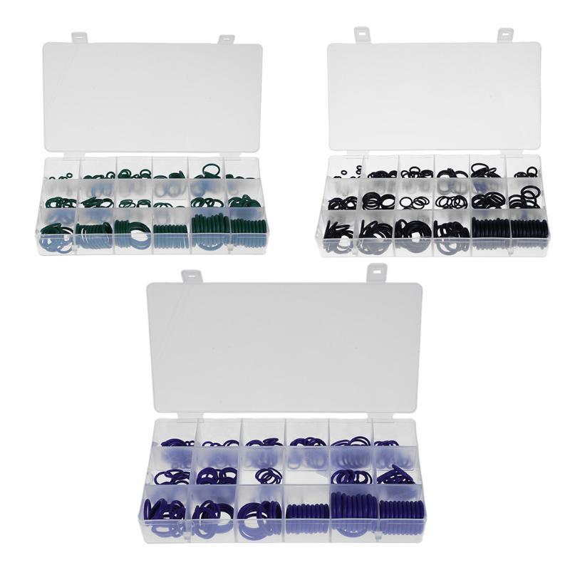 все цены на 225pcs Car Air Conditioning HNBR Rubber O Ring Gaskets Assortment Kit Car Auto Vehicle Repair Tools Air Conditioning Refrigerant онлайн