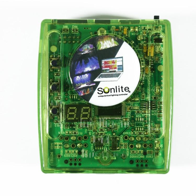 Dj contrôleur usb sunlite 1024 dmx éclairage console pour lumière de la scène avec ordinateur dmx512 USB interface