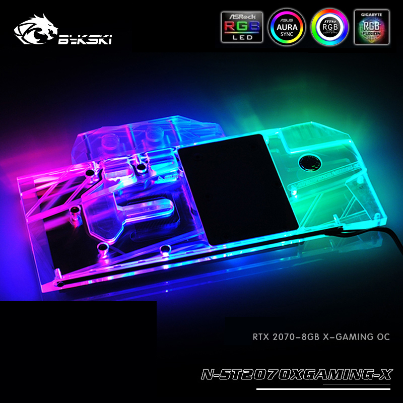 Bykski Water Block use for ZOTAC RTX2070 8GB X GAMING OC Gaming RTX2070 AMP Full Cover
