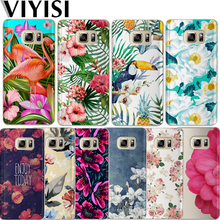 VIYISI For Samsung Galaxy S8 S9 Plus Phone Case Flower Cover J7 J5 J3 A5 A3 2015 2016 2017 S6 S7Edge Tropical Plants Coque Shell