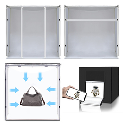 Mezher 80 cm folding lightbox studio special lamp board x 2 studio light group camera box with power drive support light board