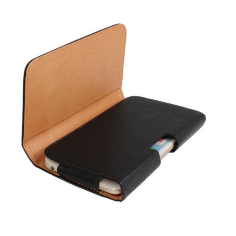 Vertical Horizonal Style PU Leather Man s Belt Clip Pouch Cover for hTC Windows Phone 8S