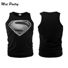 2017 Fashion summer superman vest men cool casual style round neck Spiderman tank top bodybuilding fitness vest