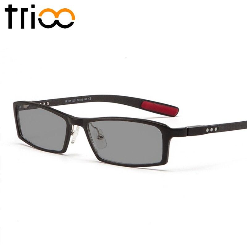 TRIOO Polarizzati Occhiali Da Vista per Miopi Driver UV400 Occhiali Da Sole Neri con Diottrie di Alluminio e magnesio Occhiali Da Vista