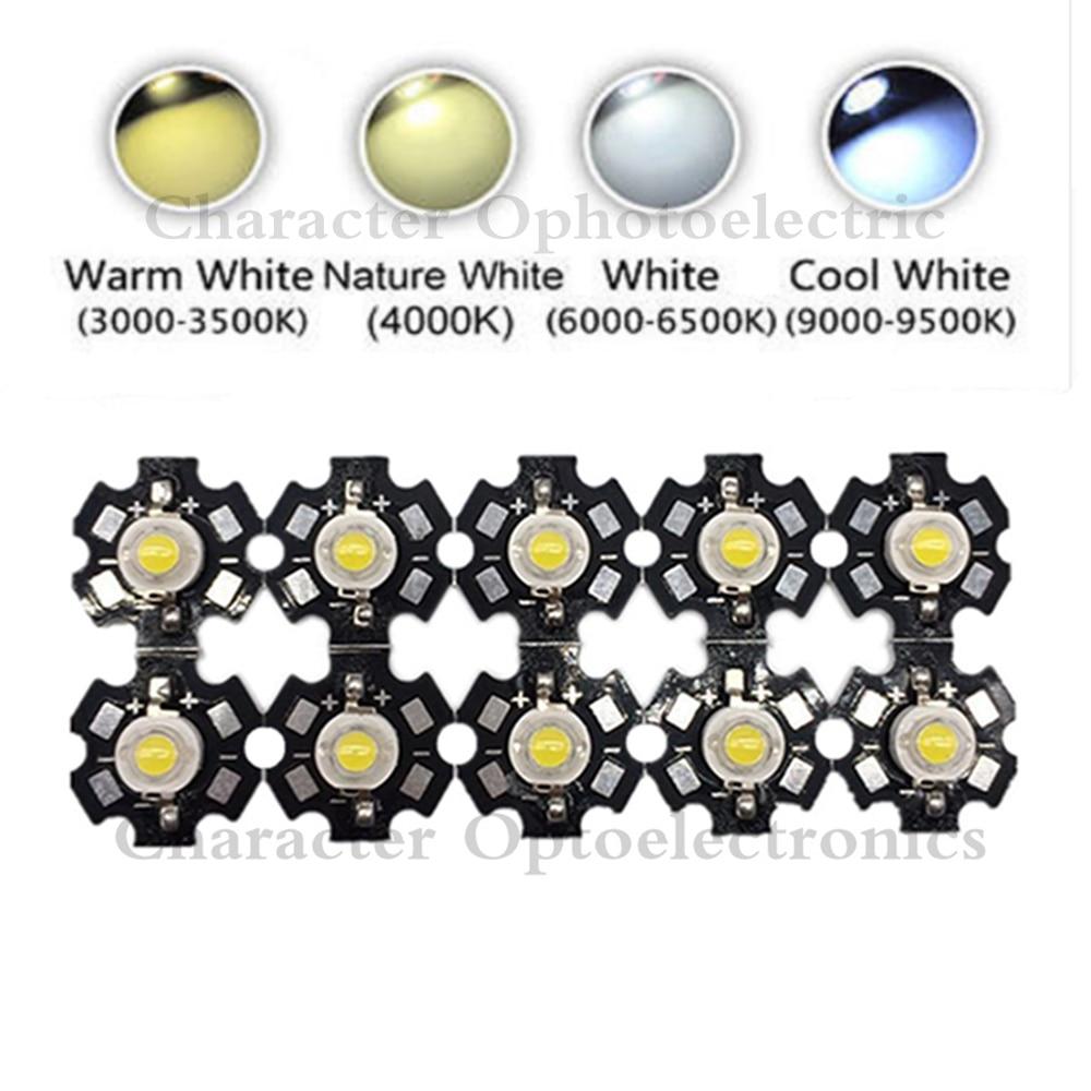 10 pièces 3 W haute puissance puce LED lumière blanc rouge bleu vert IR 850nm 940nm diode électroluminescente