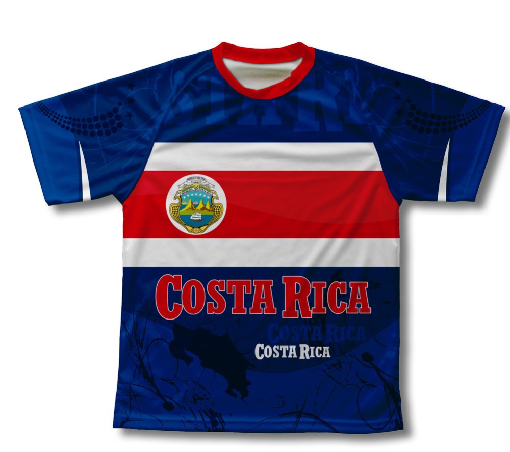 2016 Costa Rica Ciclismo T,Shirt para Hombres y Mujeres de la bicicleta bici Bicicleta
