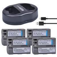 4x 2400mAh EN EL3E EN EL3E EN EL3e ENEL3E Battery Dual USB Charger For Nikon D30