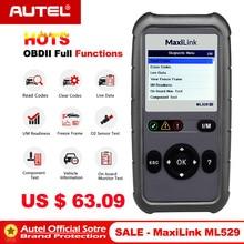 Autel MaxiLink ML529 OBD2 skaner samochodów Auto narzędzie diagnostyczne OBD 2 EOBD czytnik kodów pełna OBDII funkcje diagnostyczne PK Al519 AL529