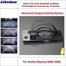 Liislee Car Rear Back Up Camera For Honda Odyssey 2006~2009 Rearview Parking / 580 TV Lines Dynamic Guidance Tragectory liislee mirror monitor easy diy back up parking system for kia sorento 2009 2018 3 in1 special camera wireless receiver
