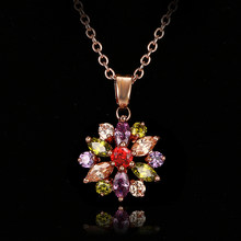 Bettyue Brand Fashion Charm Multicolor Zircon Necklace Rose Gold Color Pendant Necklaces Chain Jewelry For Women Wedding Gift(China)