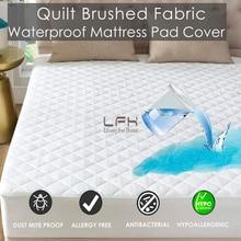Гипоаллергенный стеганый матрас для кровати, водонепроницаемый наматрасник, мягкий наматрасник, моющийся матрас