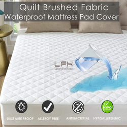 Hypoallergenic Quilted Bed Mattress Pad Waterproof Mattress Cover Soft Mattress Topper Washable Mattress Protector Matelas