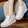 Aumento de la altura Zapatos Causales de Las Mujeres Del Verano Zapatos de Deporte de Moda para Mujer Zapatos Para Caminar Transpirable Zapatos Causales de La Mujer 2016