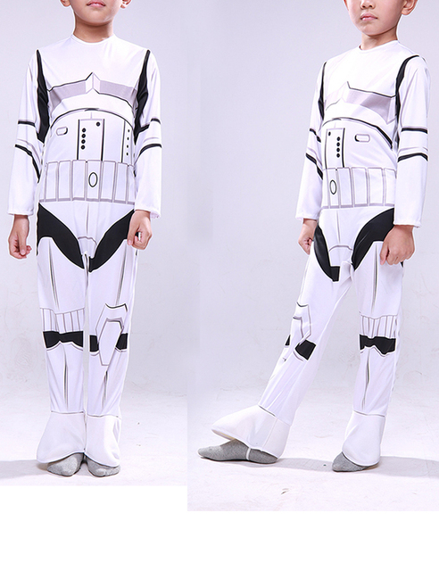 Star Wars Cosplay Stormtroopers Costumes Halloween Costumes for Children Free shipping Fantasia Disfraces game uniforms