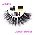 Free shipping firstlady soft handmade 100% real siberian mink strip lashes 3d mink false eyelashes