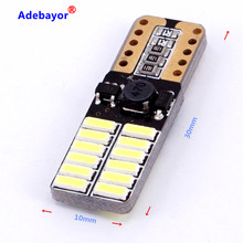 200Xcar Auto Led T10 194 W5W Canbus 24 Smd 4014 Led Gloeilamp Geen Fout Led Parkeerplaats Auto Styling licht Auto Univera Lampen 12V