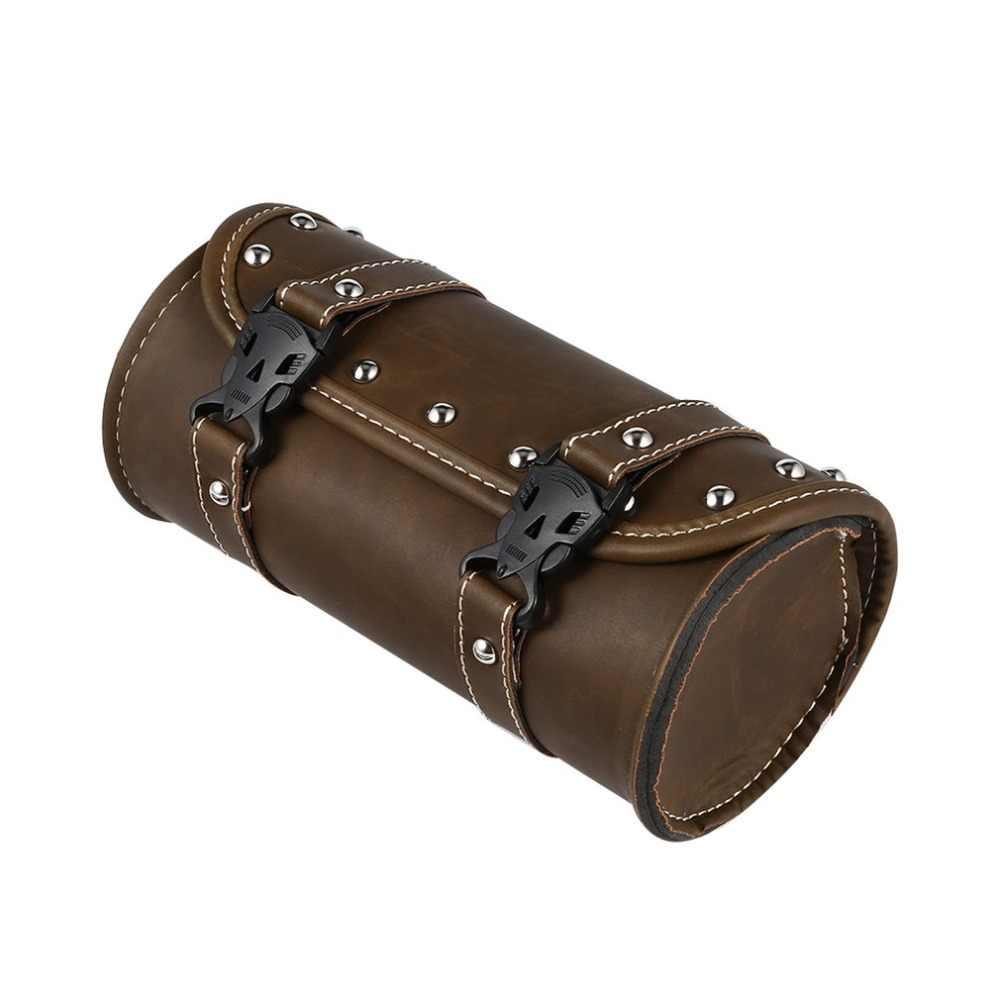 Saddle Bags Fork Tool Pu Leather Bag