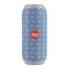 TG117 bezprzewodowy przenośny głośnik z bluetooth subwoofer stereo kolumna głośnik + TF wbudowany mikrofon Bass FM MP3 dźwięk boom box