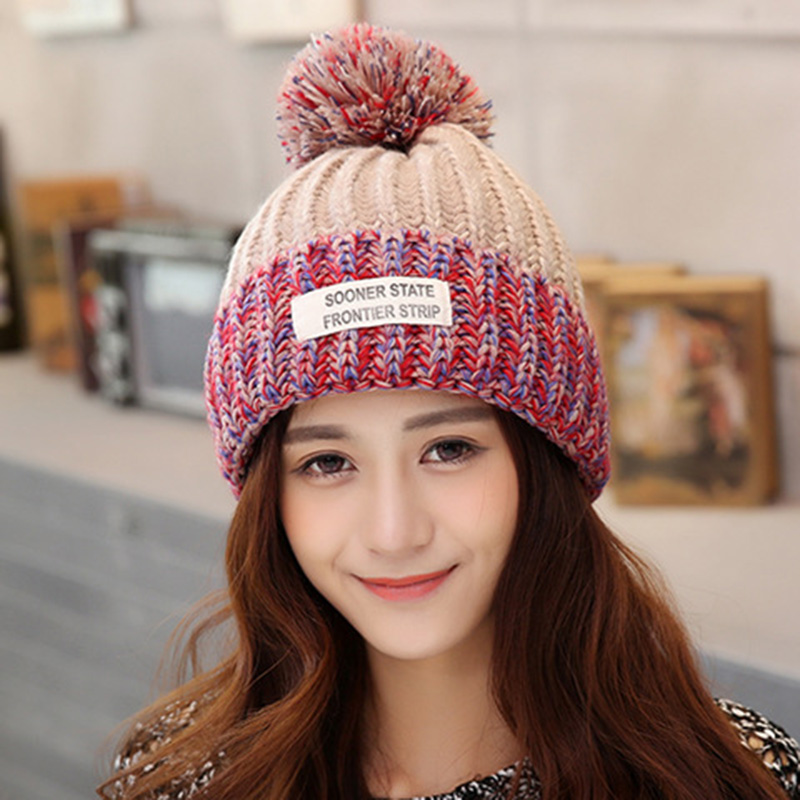 d7803cc03c86e Aliexpress.com   Buy 2018 Beanies Bonnet Women s Winter Hats For Women Knit  Caps Winter Hats Brand Mask Ball Beanie Balaclava Gorros Skullies New Hat  from ...