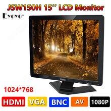 """Бесплатная доставка! Eyoyo Ultra HD 15 """"Цветной ЖК-Дисплей Монитор VGA BNC Аудио HDMI AV Вход Для ПК CCTV"""