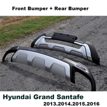 For Hyundai Grand Santa Fe 2013.2014.2015.2016 Bumper Guard Plate Upgrade Style Brand New ABS Front+Rear Bumpers Car Accessories