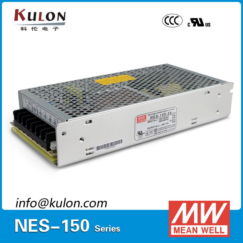 цена на Original MEAN WELL NES-150-24 single output 150W 6.5A 24V Meanwell Power Supply NES-150 UL CB TUV EMC