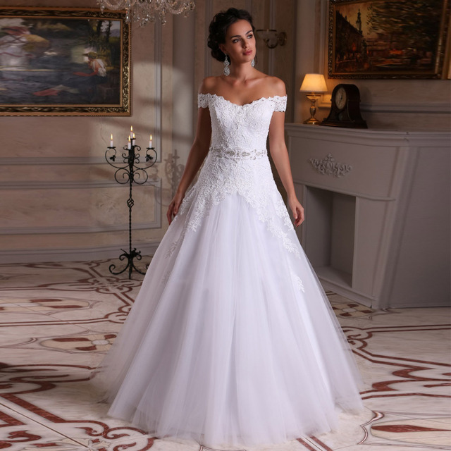 casamento lace wedding dress with belt vestido de novia cheap prices