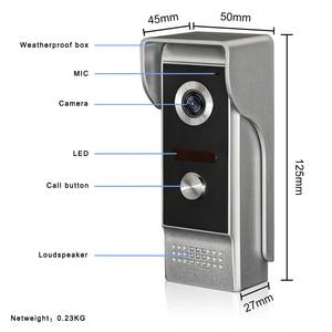 Image 1 - ل 2v1 7 TFT LCD السلكية فيديو باب الهاتف نظام البصرية جرس باب إنتركوم 800x480 داخلي رصد 700TVL في الهواء الطلق كاميرا تعمل بالأشعة تحت الحمراء