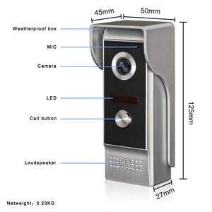 Image 1 - 2v1のための7インチtft液晶有線ビデオドア電話システム視覚インターホンドアベル800 × 480屋内モニター700TVL屋外赤外線カメラ