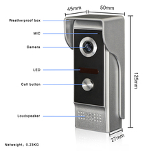 Проводной видеодомофон с ЖК дисплеем TFT 7 дюймов для 2v1, визуальный домофон, дверной звонок 800x480, внутренний монитор 700TVL, наружная инфракрасная камера