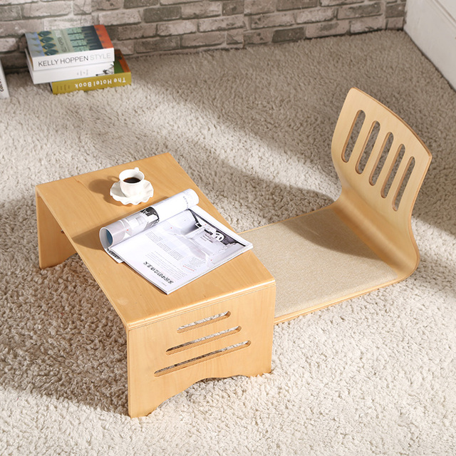 Modern Wood Foldable Table Leg Folding Rectangle 80*42cm Living Room ...
