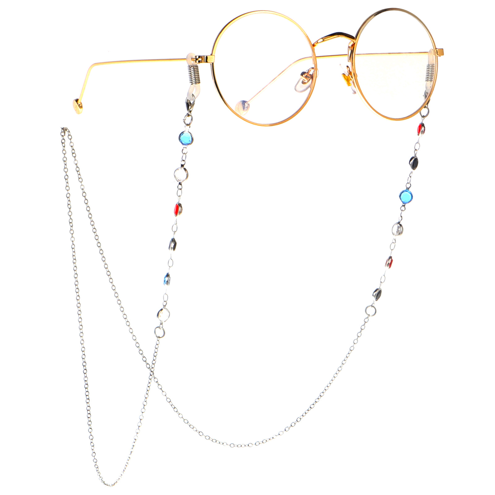 Crystal Beaded Eyeglass Chain Strap Sunglass Retainer Cord Spectacle Lanyard