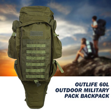 Outlife 60L Outdoor Military Backpack Pack Rucksack Tactical Bag for Hunting Shooting font b Camping b